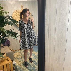 Zara Oversized Snake Babydoll Dress M